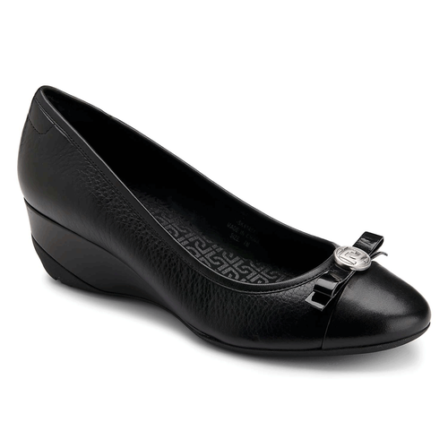 truLinda Bow Tie Wedge Women's Shoes in Black